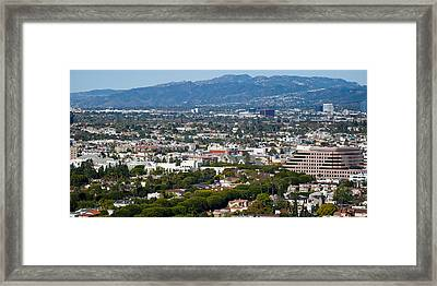 High Angle View Of A City, Culver City Framed Print