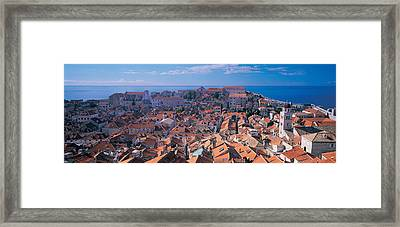 High Angle View Of A City, Dubrovnik Framed Print by Panoramic Images