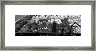 High Angle View Of A City, Eiffel Framed Print by Panoramic Images