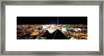 High Angle View Of A City From Mandalay Framed Print by Panoramic Images