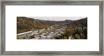 High Angle View Of A City, Gatlinburg Framed Print by Panoramic Images