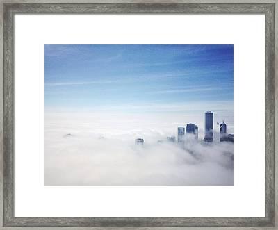 High Angle View Of A City Framed Print by Kweku Bentum / Eyeem