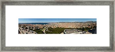 High Angle View Of A City, Marseille Framed Print by Panoramic Images