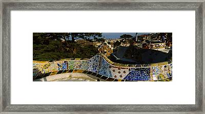 High Angle View Of A City, Parc Guell Framed Print by Panoramic Images