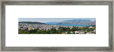 High Angle View Of A City, Richmond Framed Print by Panoramic Images
