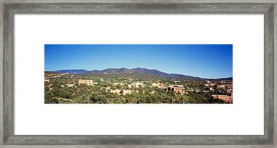 High Angle View Of A City, Santa Fe Framed Print