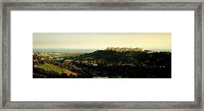 High Angle View Of A City, Santa Framed Print