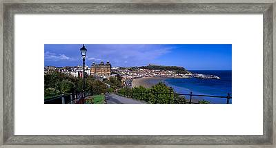 High Angle View Of A City, Scarborough Framed Print by Panoramic Images
