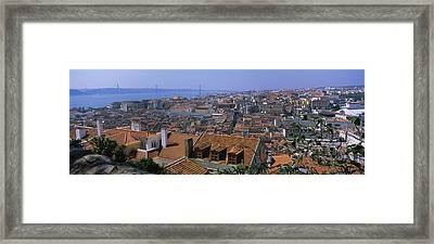 High Angle View Of A City Viewed Framed Print by Panoramic Images