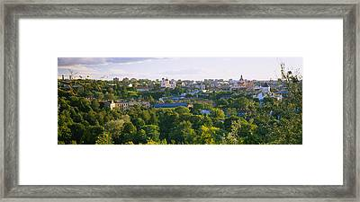 High Angle View Of A City, Vilnius Framed Print by Panoramic Images