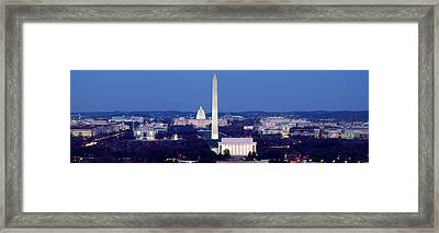 High Angle View Of A City, Washington Framed Print by Panoramic Images