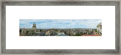 High Angle View Of A Cityscape, El Framed Print