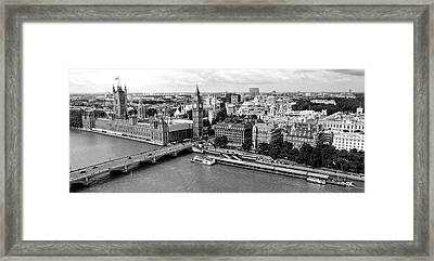 High Angle View Of A Cityscape, Houses Framed Print by Panoramic Images