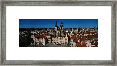 High Angle View Of A Cityscape, Prague Framed Print by Panoramic Images