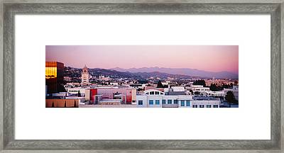 High Angle View Of A Cityscape, San Framed Print