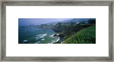 High Angle View Of A Coastline, Elk Framed Print