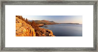 High Angle View Of A Coastline, Mount Framed Print by Panoramic Images