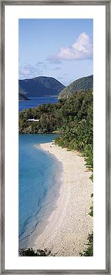 High Angle View Of A Coastline, Trunk Framed Print