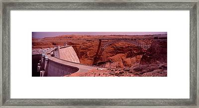 High Angle View Of A Dam, Glen Canyon Framed Print by Panoramic Images