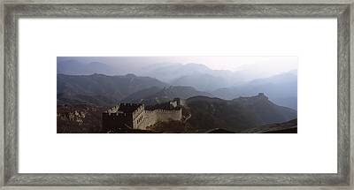 High Angle View Of A Fortified Wall Framed Print