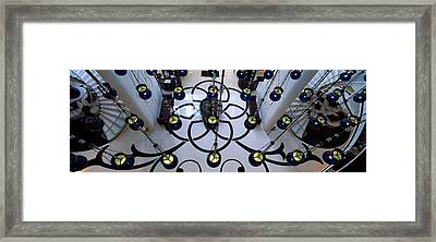 High Angle View Of A Hotel Lobby, W Framed Print
