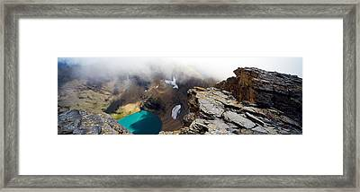 High Angle View Of A Lake, Continental Framed Print by Panoramic Images
