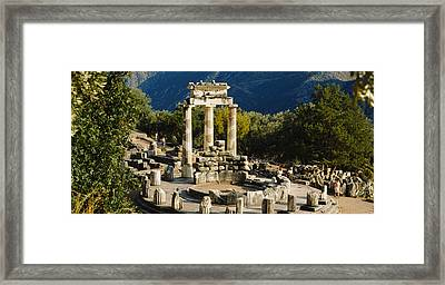 High Angle View Of A Monument, Tholos Framed Print by Panoramic Images