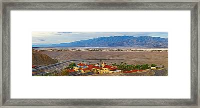 High Angle View Of A Tourist Resort Framed Print by Panoramic Images