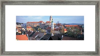 High Angle View Of A Town, Cesky Framed Print by Panoramic Images