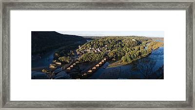 High Angle View Of A Town, Harpers Framed Print by Panoramic Images