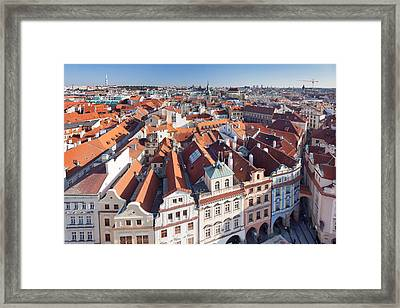 High Angle View Of A Town, Old Town Framed Print by Panoramic Images