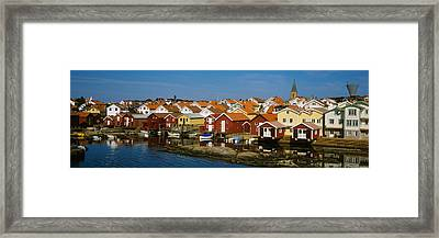 High Angle View Of A Town, Smogen Framed Print by Panoramic Images
