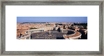 High Angle View Of A Town, St. Peters Framed Print