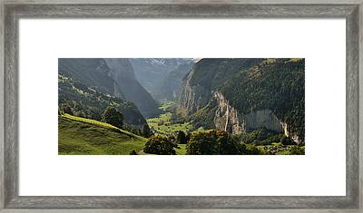 High Angle View Of A Valley Framed Print