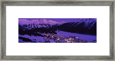 High Angle View Of A Village, St Framed Print
