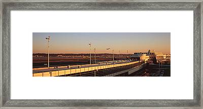 High Angle View Of An Airport, Ronald Framed Print by Panoramic Images