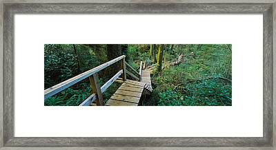 High Angle View Of An Elevated Wooden Framed Print by Panoramic Images