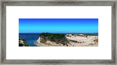 High Angle View Of An Island, Corfu Framed Print by Panoramic Images
