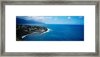 High Angle View Of An Island, Ponta Framed Print by Panoramic Images
