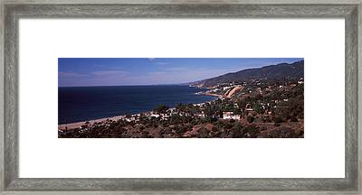 High Angle View Of An Ocean, Malibu Framed Print by Panoramic Images