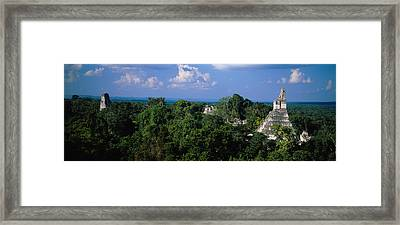 High Angle View Of An Old Temple Framed Print by Panoramic Images