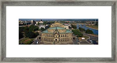 High Angle View Of An Opera House Framed Print