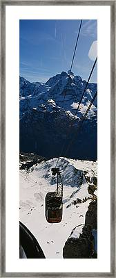 High Angle View Of An Overhead Cable Framed Print by Panoramic Images