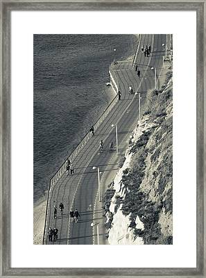 High Angle View Of Beach Front Framed Print