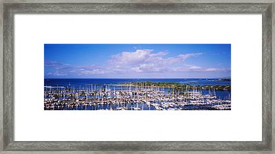 High Angle View Of Boats In A Row, Ala Framed Print by Panoramic Images