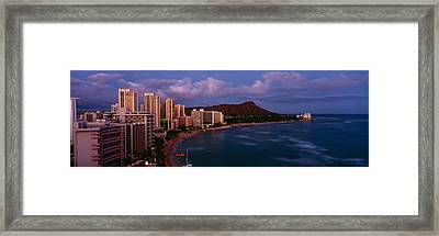 High Angle View Of Buildings On The Framed Print by Panoramic Images