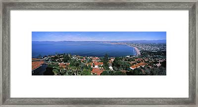 High Angle View Of City, Morro Bay, San Framed Print