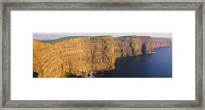 High Angle View Of Cliffs, Cliffs Of Framed Print by Panoramic Images