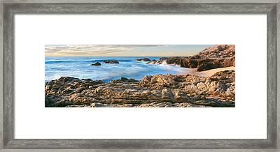 High Angle View Of Coastline, Cerritos Framed Print
