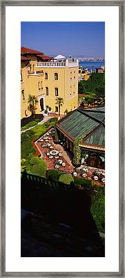 High Angle View Of Empty Chairs Framed Print by Panoramic Images